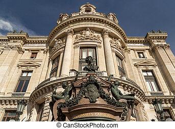 建物, オペラ, アカデミー, 国民, パリ, 音楽, 壮大