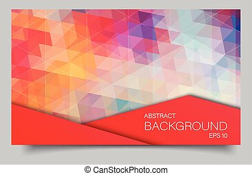 Bright color polygonal banner - bright color banner with...