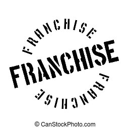 Franchise rubber stamp. Grunge design with dust scratches....