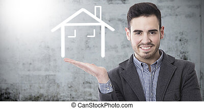 commercial with the concept of real estate and buy house