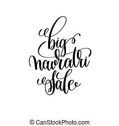 big navratri sale hand lettering inscription to indian...