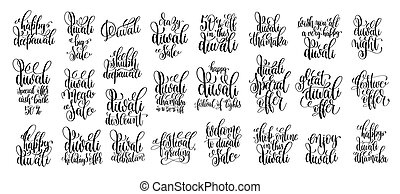 set of 25 calligraphy hand lettering inscription text about...