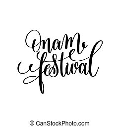 onam festival hand lettering calligraphy holiday quote to...