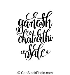 ganesh chaturthi sale hand lettering calligraphy inscription...