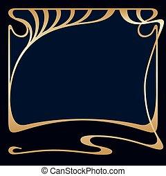 Vector art nouveau frame. - Vector art nouveau vintage...