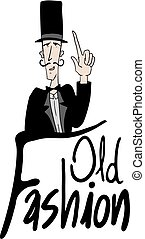 old fashion message - Creative design of old fashion message