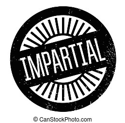 Impartial rubber stamp. Grunge design with dust scratches....