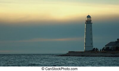 Lighthouse at the seashore