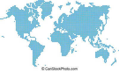 Blue World map dotted style