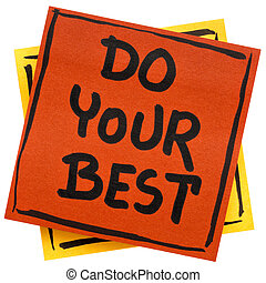 Do your best reminder note