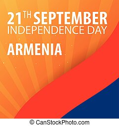 Independence day of Armenia. Flag and Patriotic Banner....