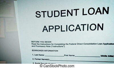 """Student Loan Application Concept"" - ""Animation video with..."