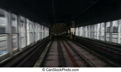 Station train tunnel speed - Ride through a subway tunnel...