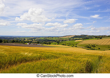 yorkshire wolds vista - stunning yorkshire wolds farmland...