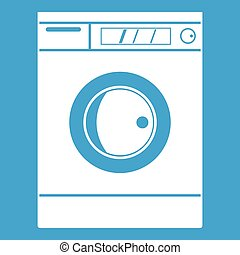 Washing machine icon white