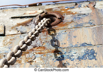 Span - Details of an old ship in France