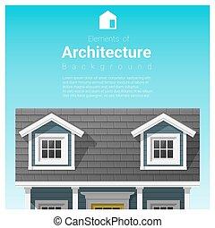 小さい, 家, 要素, 建築, 背景