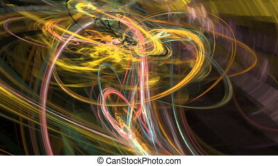 Abstract motion background, energy waves and lightning,...