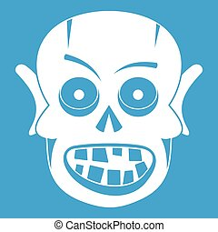Living dead icon white