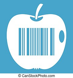 Code to represent product identification icon white isolated...
