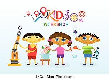 Art Classes For Kids Logo Creative Artistic School For Children Banner