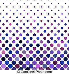 Colored dot pattern background - vector illustration from purple circles