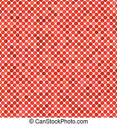 Colored dot pattern background - geometric vector design from red circles