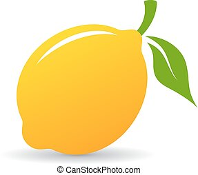 Lemon vector icon isolated on white background