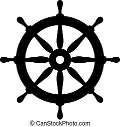 Ship steering wheel icon - Ship steering wheel vector icon