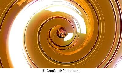 Luxury Gold Spiral - 3D golden luxury spiral seamless loop...
