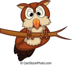 Cute Owl cartoon - full color