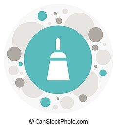 Vector Illustration Of Tools Symbol On Putty Knife Icon. Premium Quality Isolated Chisel Scraper Element In Trendy Flat Style.