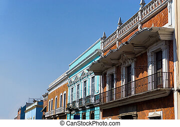 Colonial Building in the Historic Center in Puebla