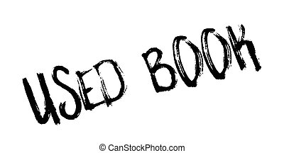 Used Book rubber stamp. Grunge design with dust scratches....