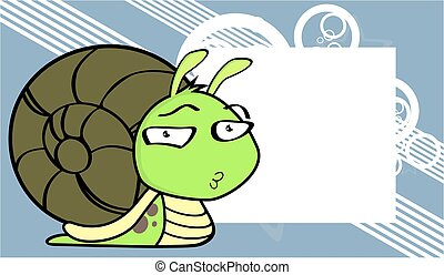 funny flirty little snail cartoon expression background -...