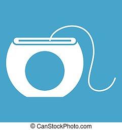 Dental floss icon white