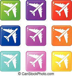 Passenger airliner set 9