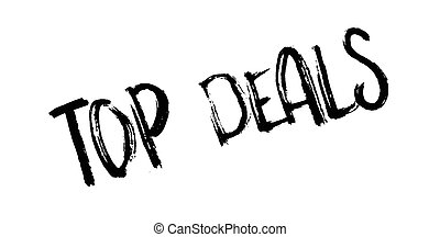 Top Deals rubber stamp. Grunge design with dust scratches....
