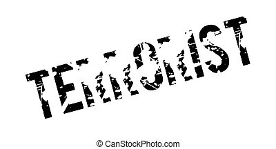 Terrorist rubber stamp. Grunge design with dust scratches....