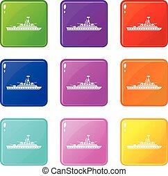 Military warship set 9