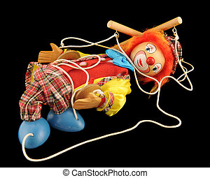 The Gig is Over - A clown marionette collapsed among his...