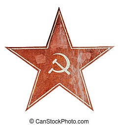 Communism symbol - Red USSR communism symbol with hammer and...