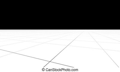 """Perspective grid background with camera in motion"" -..."