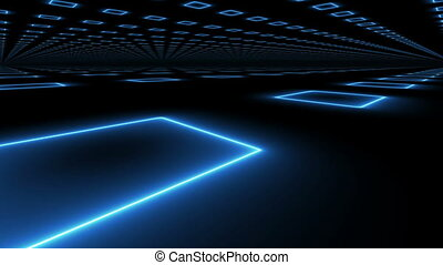 """Abstract Futuristic technology blue background"" - ""Abstract..."