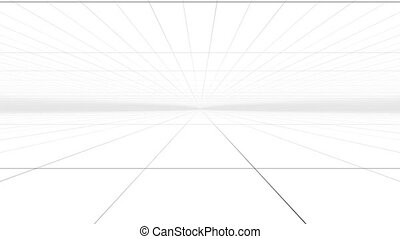"""Abstract Perspective grid surface with white "" - ""Abstract..."