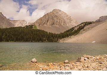 Chester Lake and Gusty Peak - Landscape of Gusty Peak...