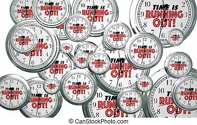 Time is Running Out Clocks Flying By Deadline Reminder 3d...
