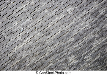 Black slate wall texture and background. Interior or...