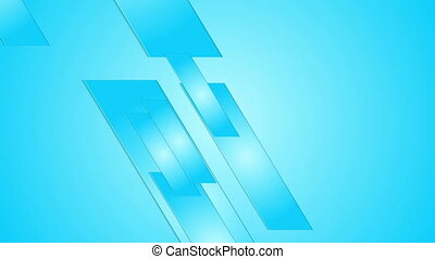 Blue geometric abstract hi-tech motion design - Bright blue...