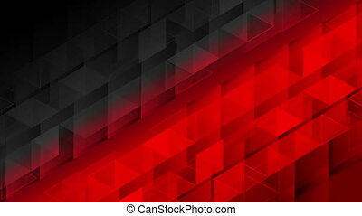 Black red geometric polygonal pixelated video animation -...